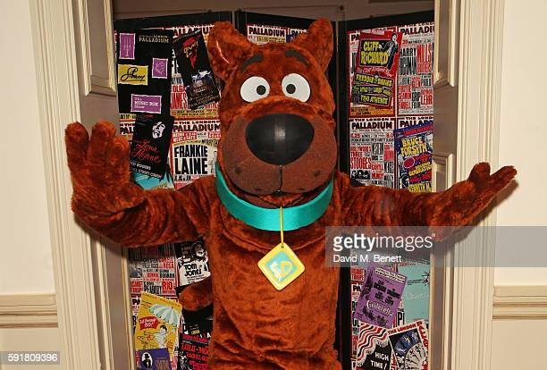 ScoobyDoo poses at the press night after party for ScoobyDoo Live Musical Mysteries at The London Palladium on August 18 2016 in London England