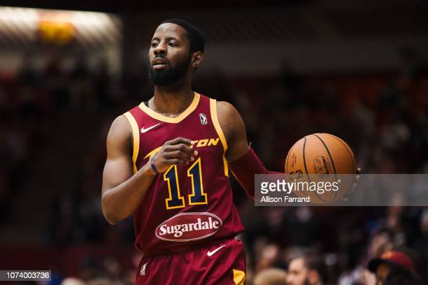 Scoochie Smith of the Canton Charge runs a play against the Greensboro Swarm on December 15 2018 at the Canton Memorial Civic Center in Canton OH...