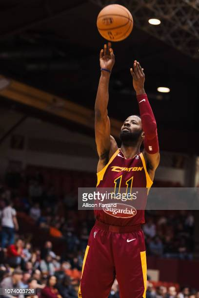 Scoochie Smith of the Canton Charge shoots a free throw against the Greensboro Swarm on December 15 2018 at the Canton Memorial Civic Center in...