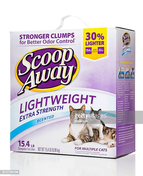 scoop away lightweight extra strenght scented cat litter box - litter box stock photos and pictures