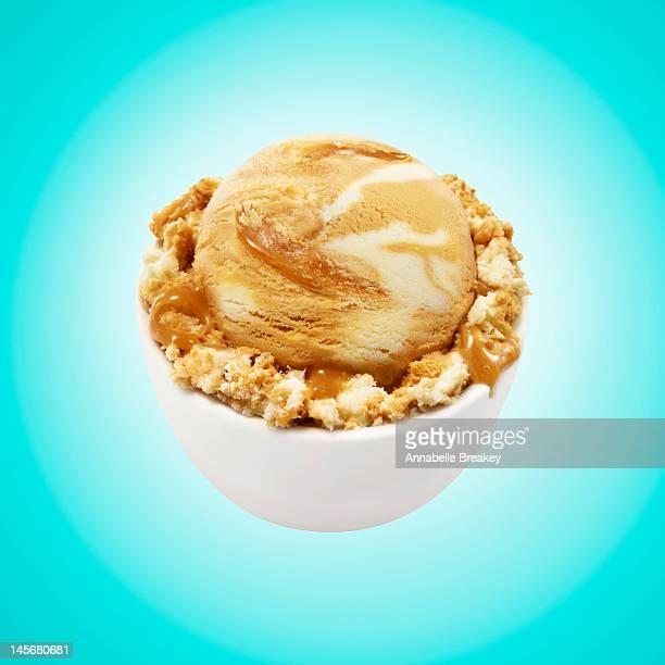 Scoop of Caramel Vanilla Ice Cream