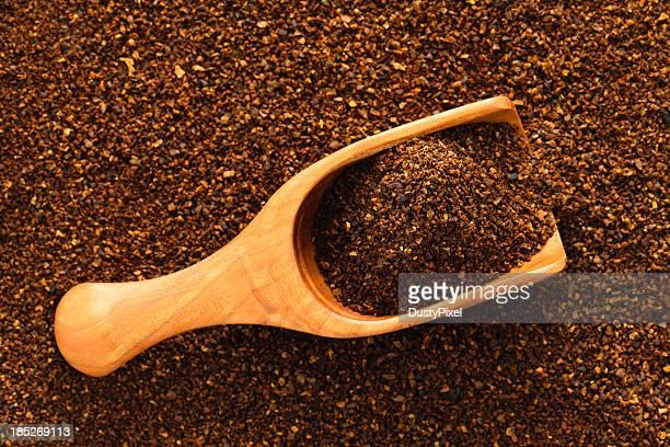 bola de café moido - ground coffee - fotografias e filmes do acervo