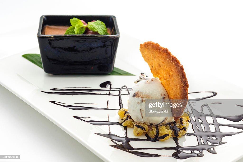 Scoop of icecream with cookie : Stock Photo