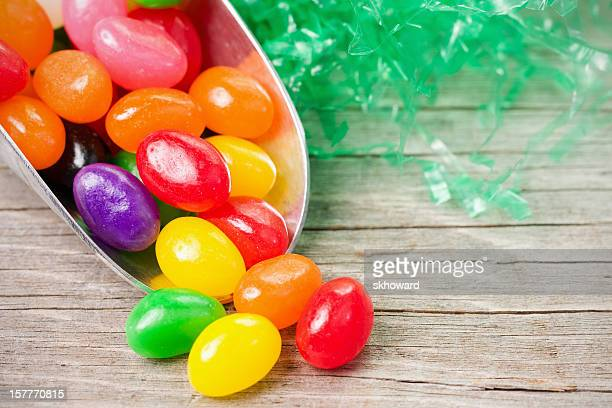 Scoop of Jellybeans with Artificial Grass