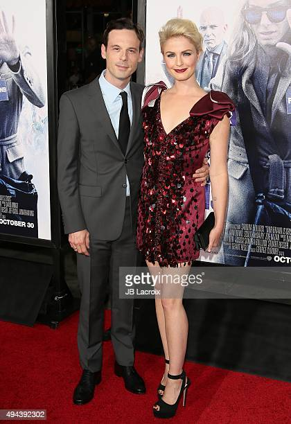 Scoot McNairy and Whitney Able attend the premiere of Warner Bros Pictures' 'Our Brand Is Crisis' at TCL Chinese Theatre on October 26 2015 in...