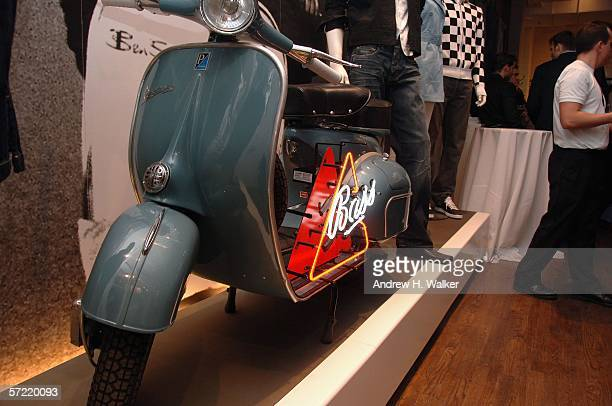 A scooter at the launch of Ben Sherman's first official US Flagship Store on March 30 2006 in New York City
