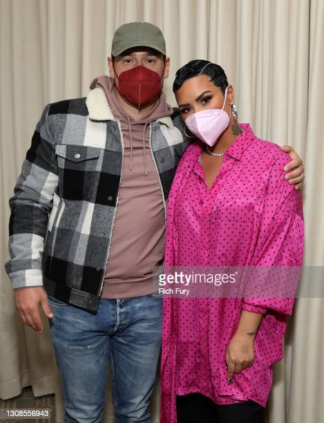 """Scooter Braun and Demi Lovato attend the OBB Premiere Event for YouTube Originals Docuseries """"Demi Lovato: Dancing With The Devil"""" at The Beverly..."""