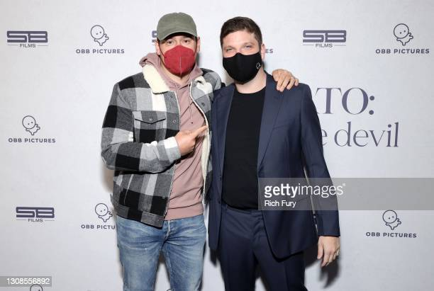 "Scooter Braun and Michael D. Ratner, Director/Executive Producer OBB Pictures attend the OBB Premiere Event for YouTube Originals Docuseries ""Demi..."