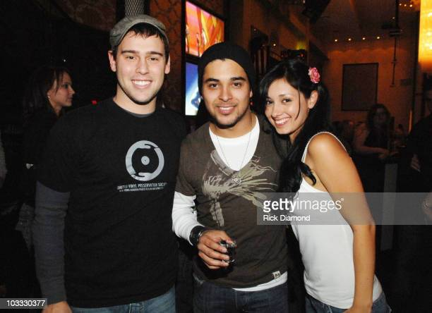 Scooter Braun Wilmer Valderrama and Marilyn Valderrama *Exclusive Coverage*
