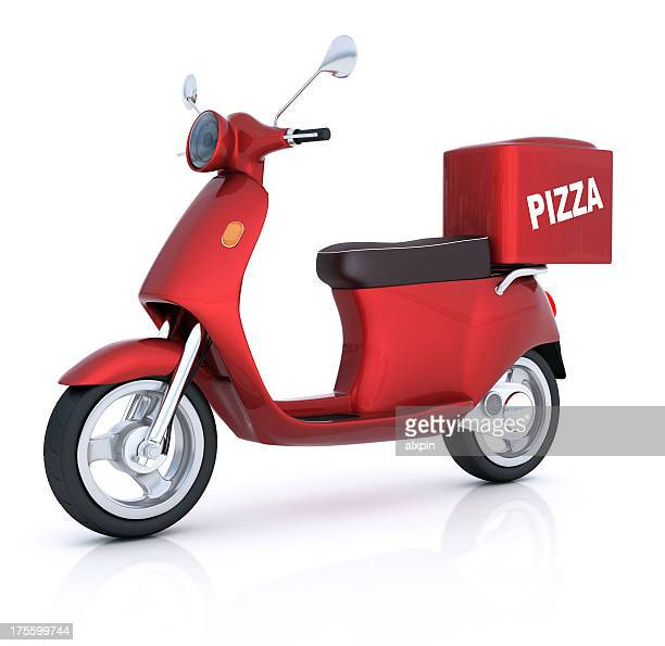 Scooter de entrega de pizza