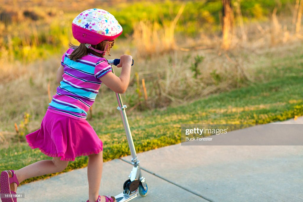 Scooter girl : Stock Photo