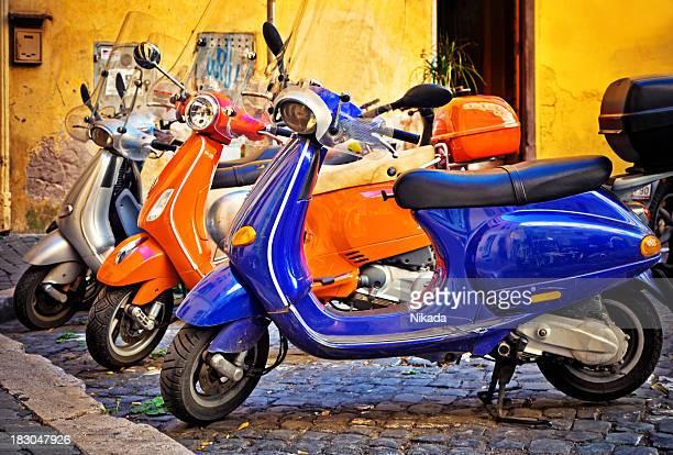 Scooter en Roma, Italia
