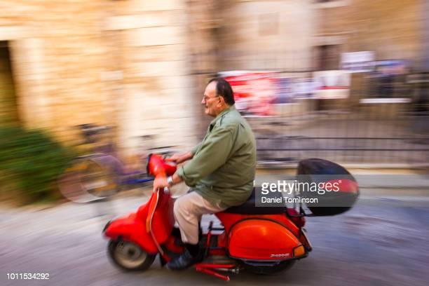 Scooter Rider in Rethymnon / Rethymno, on the Greek Island of Crete