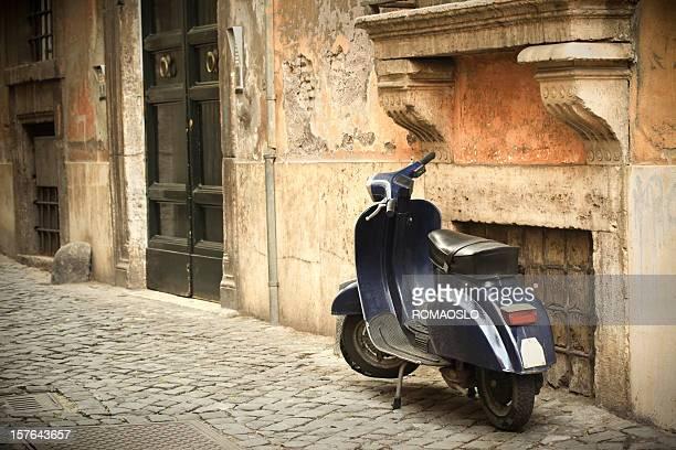 Scooter scene in Rome, Italy