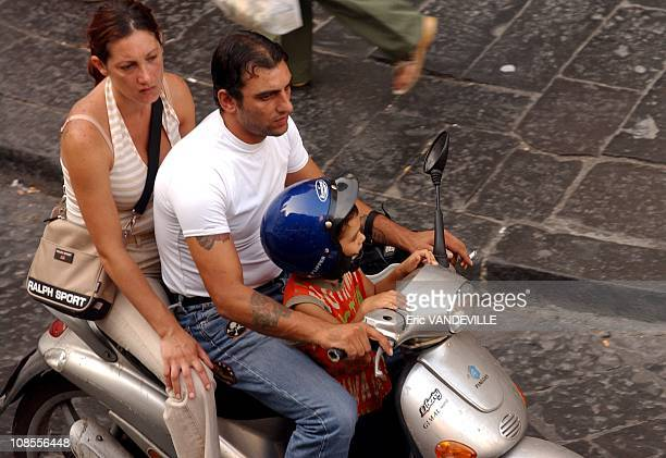 Scooters and Vespa are very popular in Naples in Naples, Italy in September, 2004.