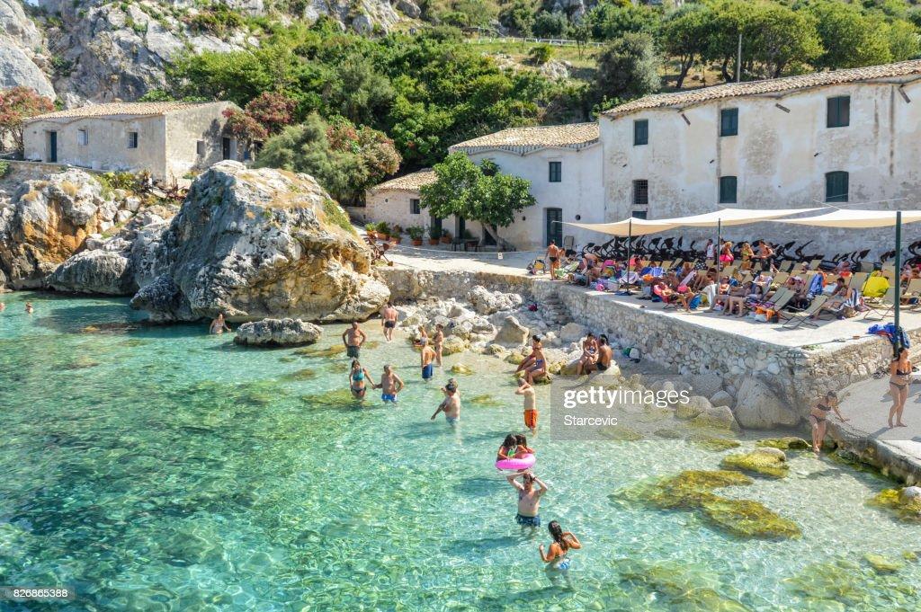 Scopello beach in Sicily, Italy : Stock Photo