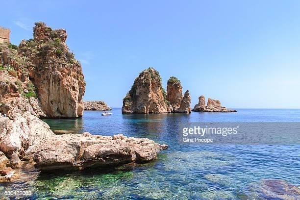 Scopello view in Sicily