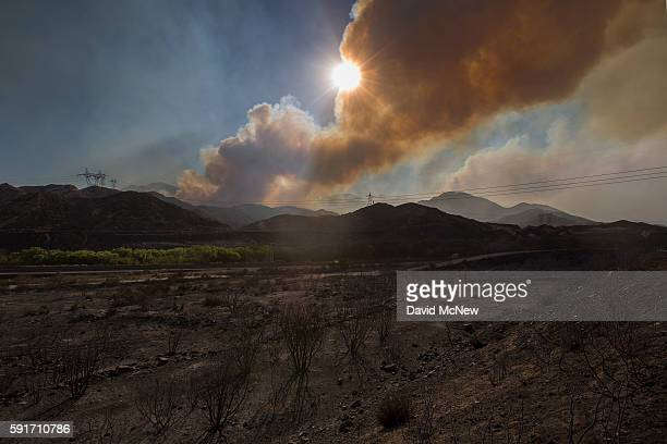 A scorched landscape is left behind at the Blue Cut Fire on August 17 2016 near Wrightwood California An unknown number of homes and businesses have...
