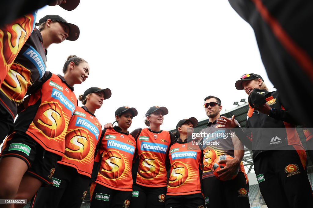 WBBL - Hurricanes v Scorchers : News Photo