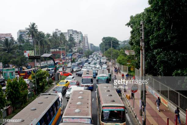 Scorching Summer heat and intolerable traffic jam make the city dwellers tired in Dhaka Bangladesh on 11 May 2019