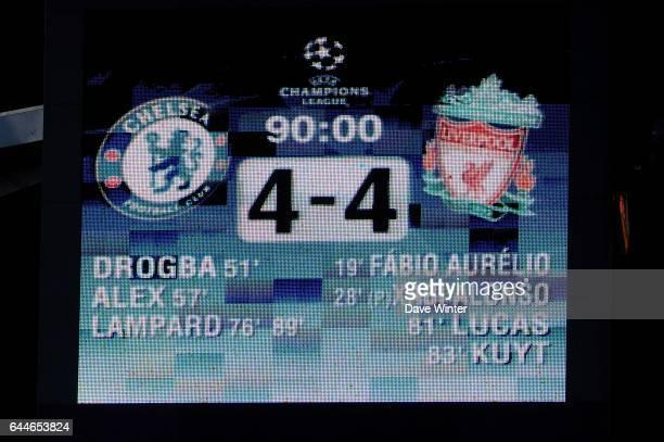 Score - - Chelsea / Liverpool - 1/4 finale Champions League -Stamford Bridge - Londres, Photo: Dave Winter / Icon Sport