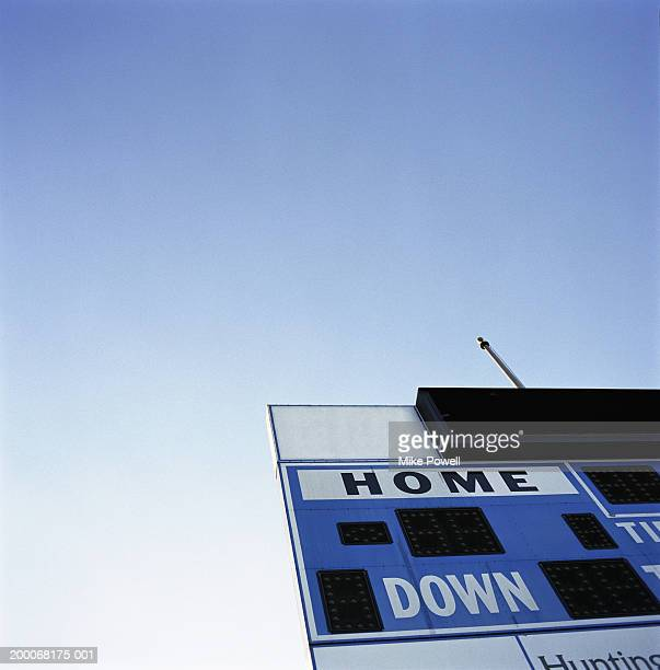 score board, close-up, low angle - scoreboard stock pictures, royalty-free photos & images