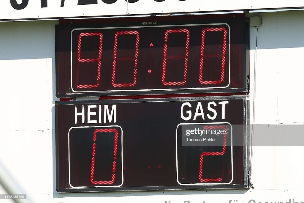 Score Board During The 2 Liga Match Between Fac Wien And Sk Austria News Photo Getty Images