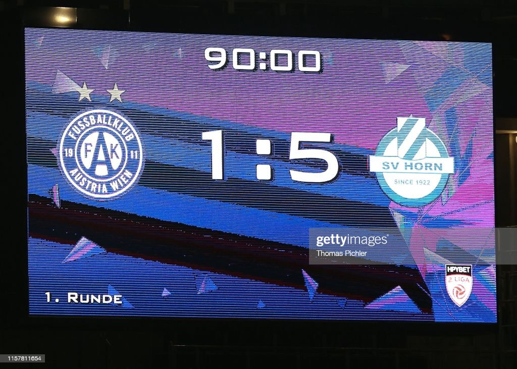 Score Board During The 2 Liga Match Between Young Violets Austria News Photo Getty Images