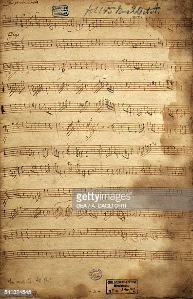 Score for trio of baritone viola and bass for the Angerfertigten by Franz Joseph Haydn Austria 18th19th century Budapest Szechenyi Nemzeti Konyvtar