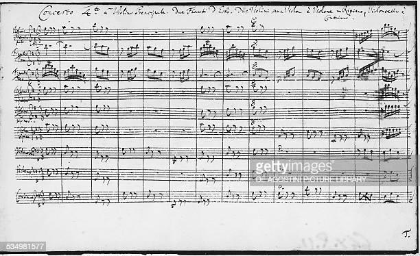 Score of the Brandenburg Concertos by Johann Sebastian Bach . Berlin, Staatsbibliothek Zu Berlin Preussischer Kulturbesitz