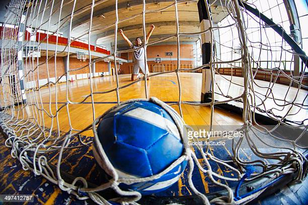 score! - handball stock pictures, royalty-free photos & images