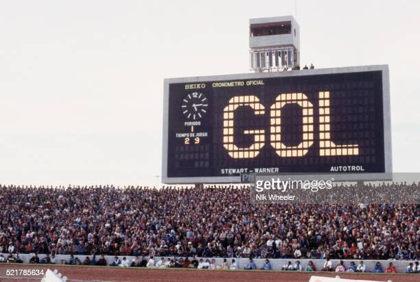 Scoreboard and Crowd at World Cup Game, Estadio Cordoba