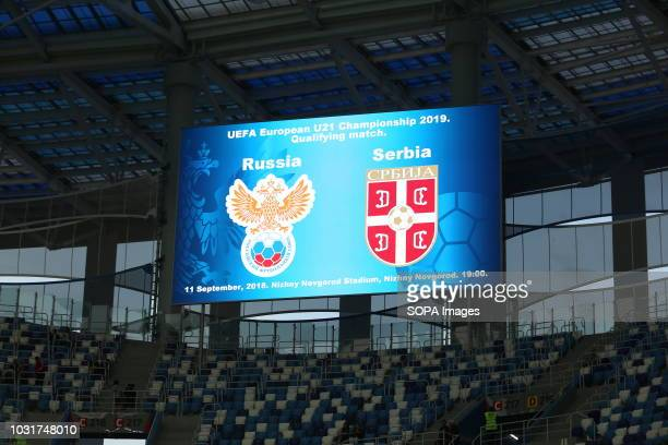Scoreboard of the match 2019 UEFA European Under21 Championship Russia vs Serbia Group 7 The Russian team lost to Serbia team 32