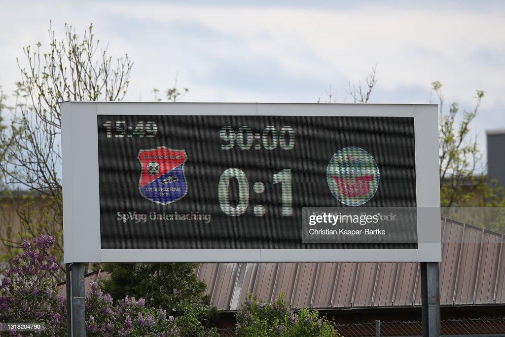SpVgg Unterhaching v Hansa Rostock - 3. Liga : Nachrichtenfoto