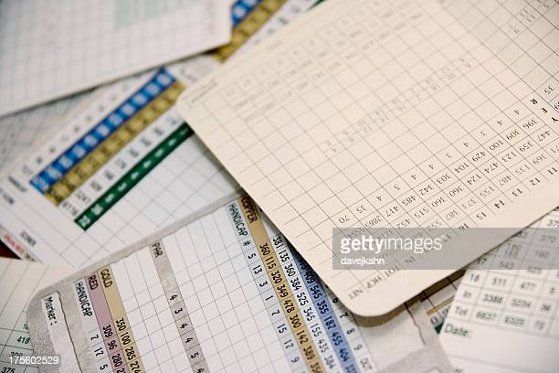 scorecard pile - scoring stock pictures, royalty-free photos & images