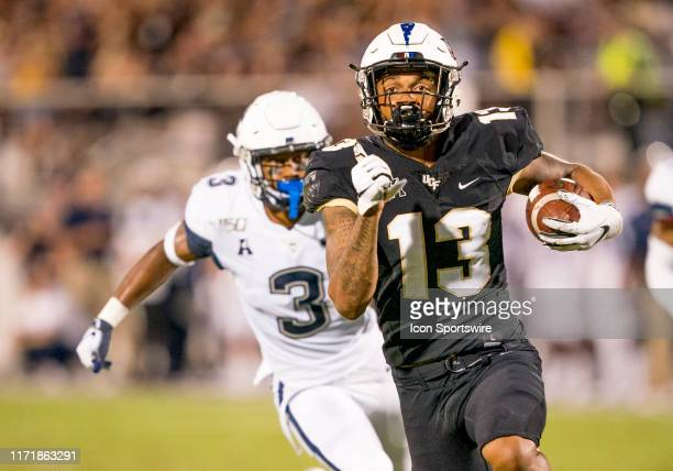 scores his first touchdown of the game Knights wide receiver Gabriel Davis during the football game between the UCF Knights and the UConn Huskies on...