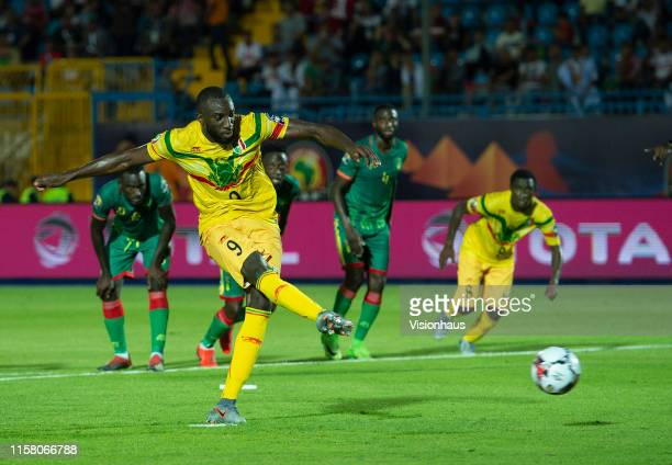 MAREGA scores Mali's second goal from the penalty spot during the 2019 Africa Cup of Nations Group E match between Mali and Mauritania at Suez...