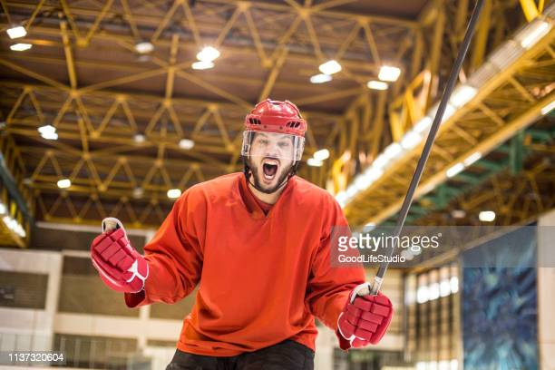 scoring a goal - ice hockey player stock pictures, royalty-free photos & images