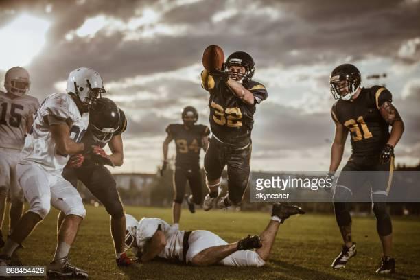 Scoring touchdown!