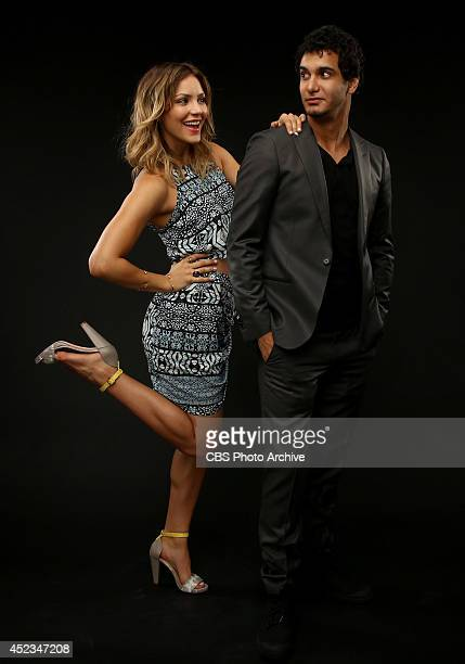 CBS' 'Scorpion' actors Katharine McPhee and Elyes Gabel poses for a portrait during CBS' 2014 Summer TCA tour at The Beverly Hilton Hotel on July 17...