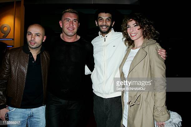 'Scorpion' Premiere In Paris France On February 16 2007 Eric Jerome Le Banner Ramzy and his friend Anne de Petrini