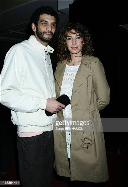 'Scorpion' Premiere In Paris France On February 16 2007 Ramzy and his friend Anne de Petrini