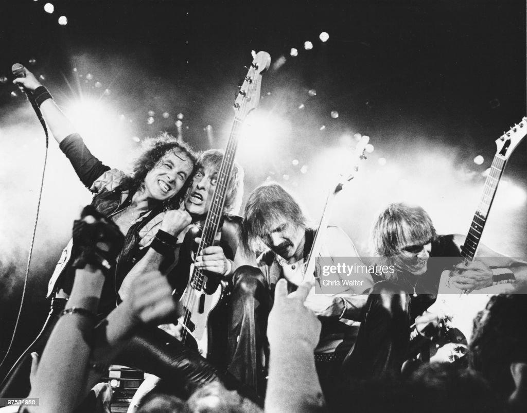 Scorpions 1984 Klaus Meine, Francis Bucholz,Rudolph Schenker and Matthias Jabs