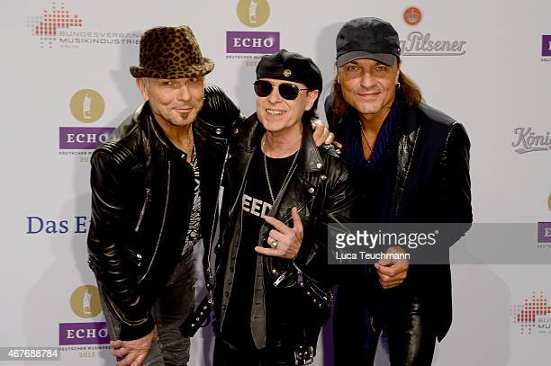 Scorpions attends the Echo Award 2015 Red Carpet Arrivals on March 26 2015 in Berlin Germany