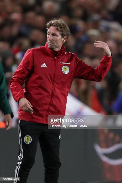 Scot Gemmill manager / Head Coach of Scotland during the UEFA European Under 21 Championship Qualifiers fixture between England U21 and Scotland U21...
