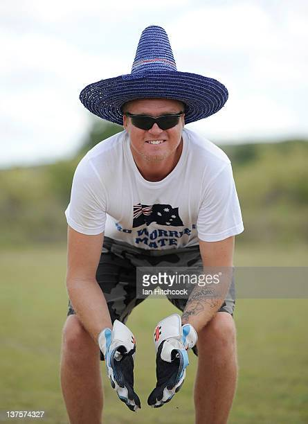 Scot Mayer from the team 'All Out For 47' poses for a photo during the 2012 Goldfield Ashes cricket competition on January 22 2012 in Charters Towers...