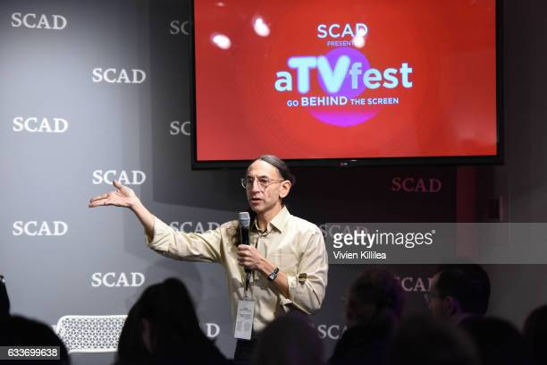 Scot Safon speaks at The Near Future of Media panel during Day Two of the aTVfest 2017 presented by SCAD on February 3 2017 in Atlanta Georgia