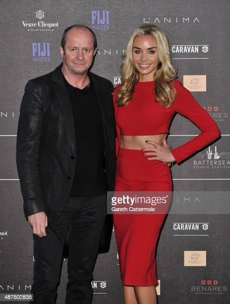Scot Young and Noelle Reno arrive at the Battersea Power Station Annual Party on April 30 2014 in London England