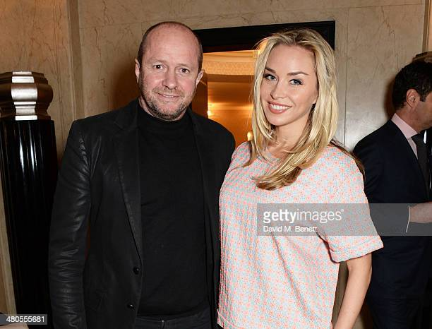 Scot Young and Noelle Reno attend a private dinner hosted by Spear's for The Mayo Clinic at Claridge's Hotel on March 25 2014 in London England