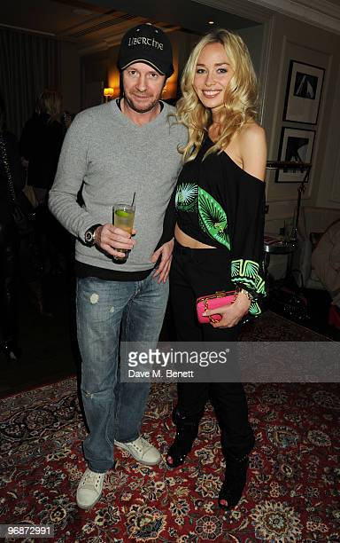 Scot Young and Noelle Reno attend the Z By Zandra Rhodes launch party at The Arch Hotel on February 19 2010 in London England